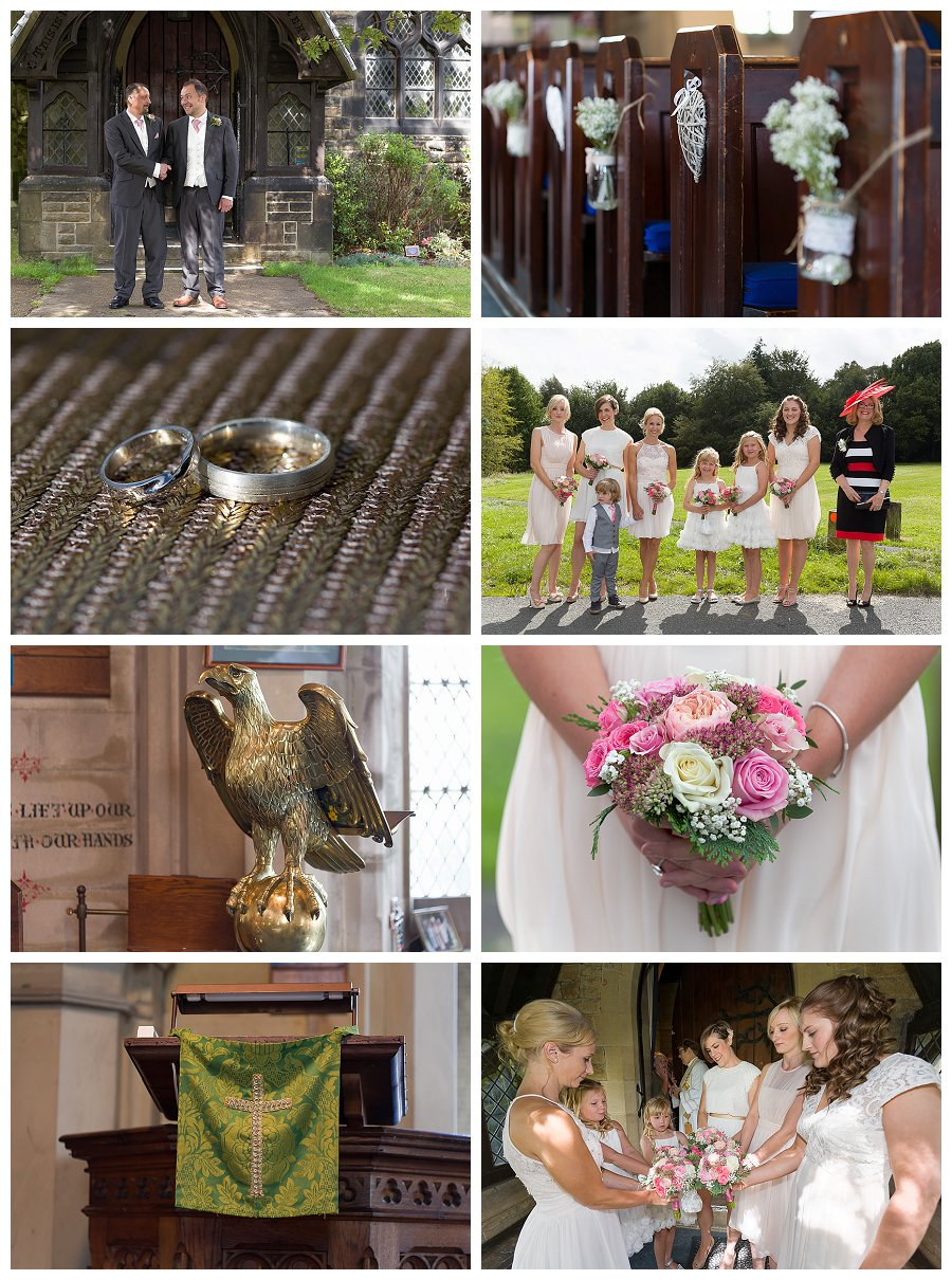 wedding photographers Meltham, wedding photography Christ Church Helme