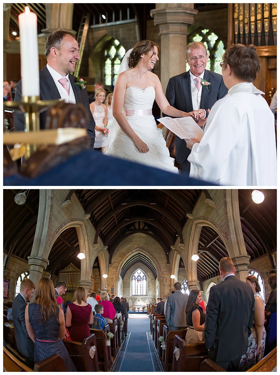 wedding photography Meltham churches, Christ Church Helme wedding photography