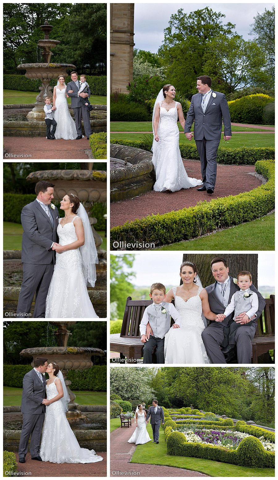 wedding photography Oulton Hall Hotel, gardens at Oulton hall hotel Yorkshire