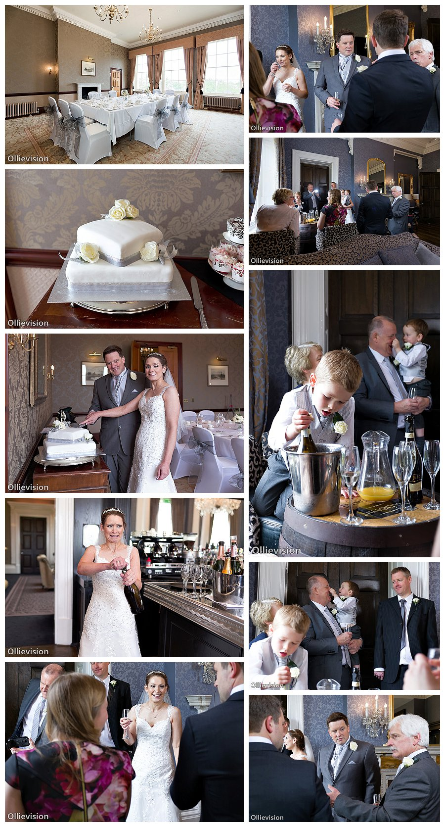 wedding photography Oulton Hall Hotel, rosedale room photographs