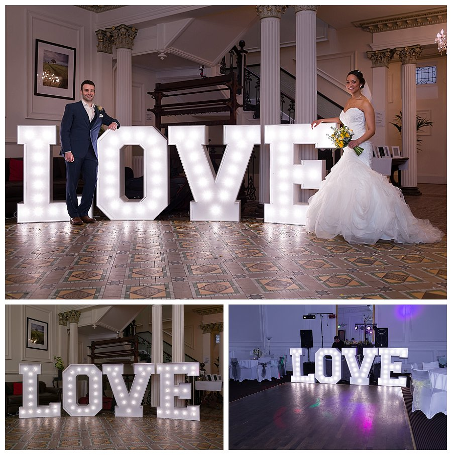 LOVE letters wedding hire, hire large love letters