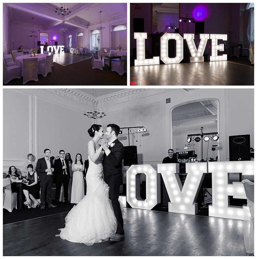 giant LOVE letters Wedding Hire, light up love letters