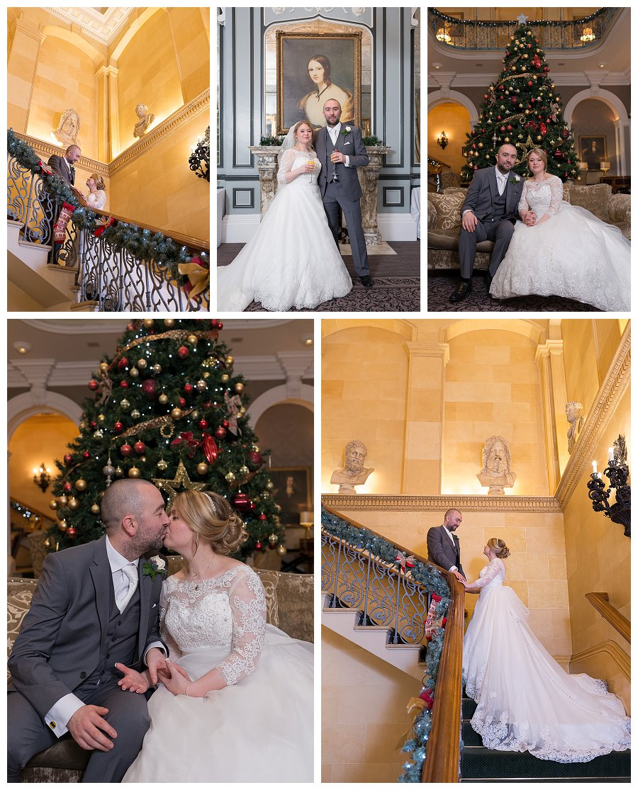 winter Wedding photography Oulton Hall Leeds, Christmas weddings at Oulton Hall