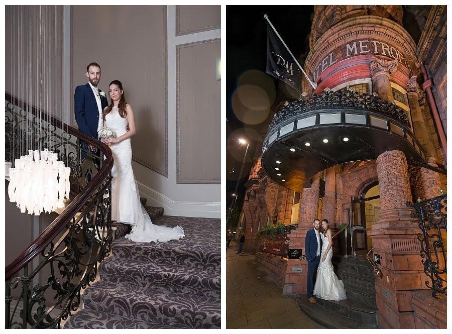 wedding photos metropole hotel leeds, terracotta exterior metropole hotel