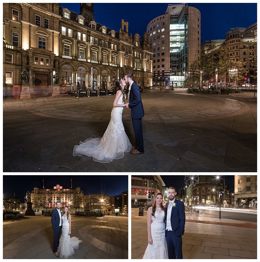wedding photos city square Leeds, wedding photographer city square Leeds, Wedding Photography Met Hotel Leeds