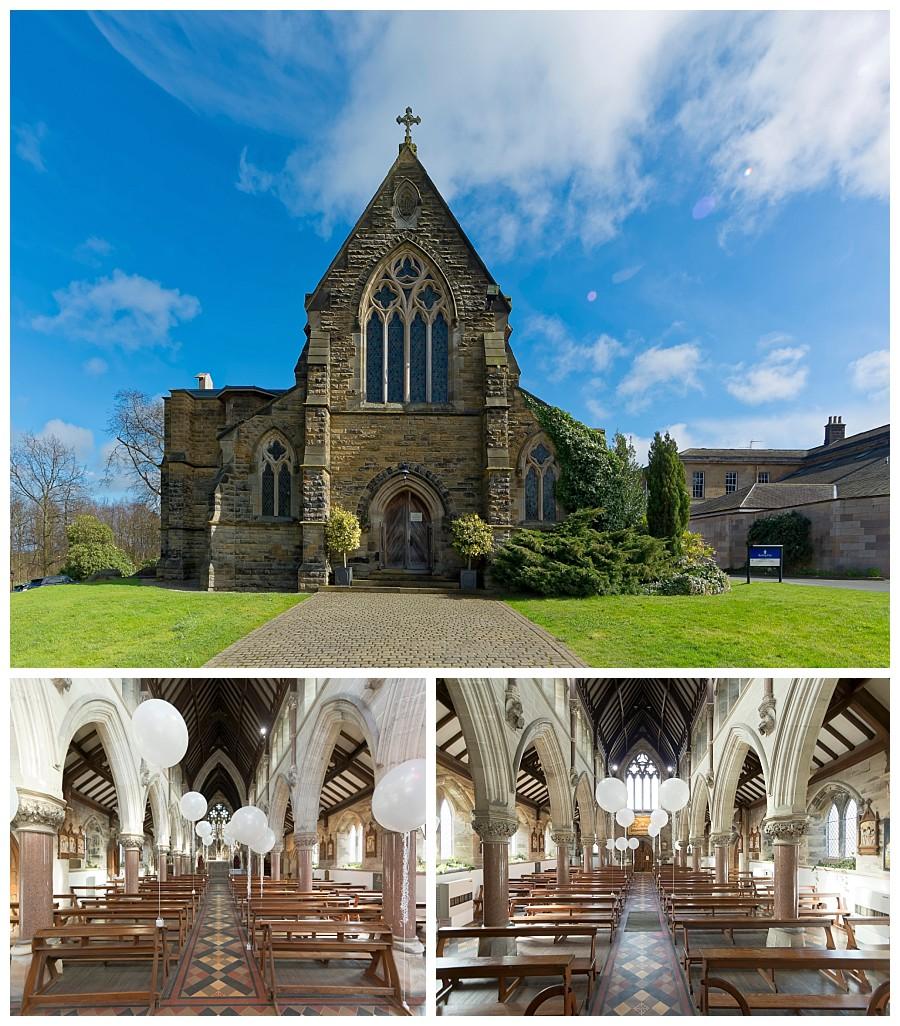 wedding photography Rudding Park Harrogate, rudding park chapel photos, church at rudding park hotel