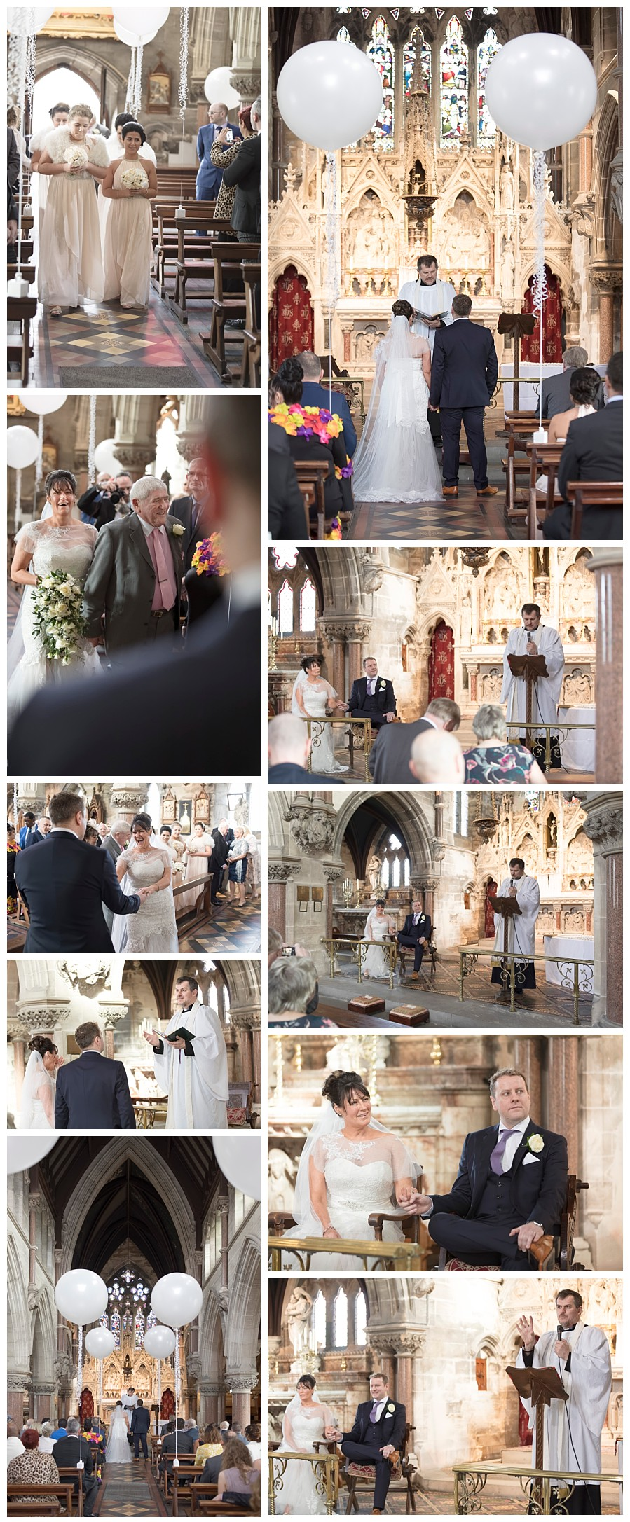 wedding photography Rudding Park Harrogate, weddings at Rudding park chapel, inside church at rudding park hotel, church wedding rudding park