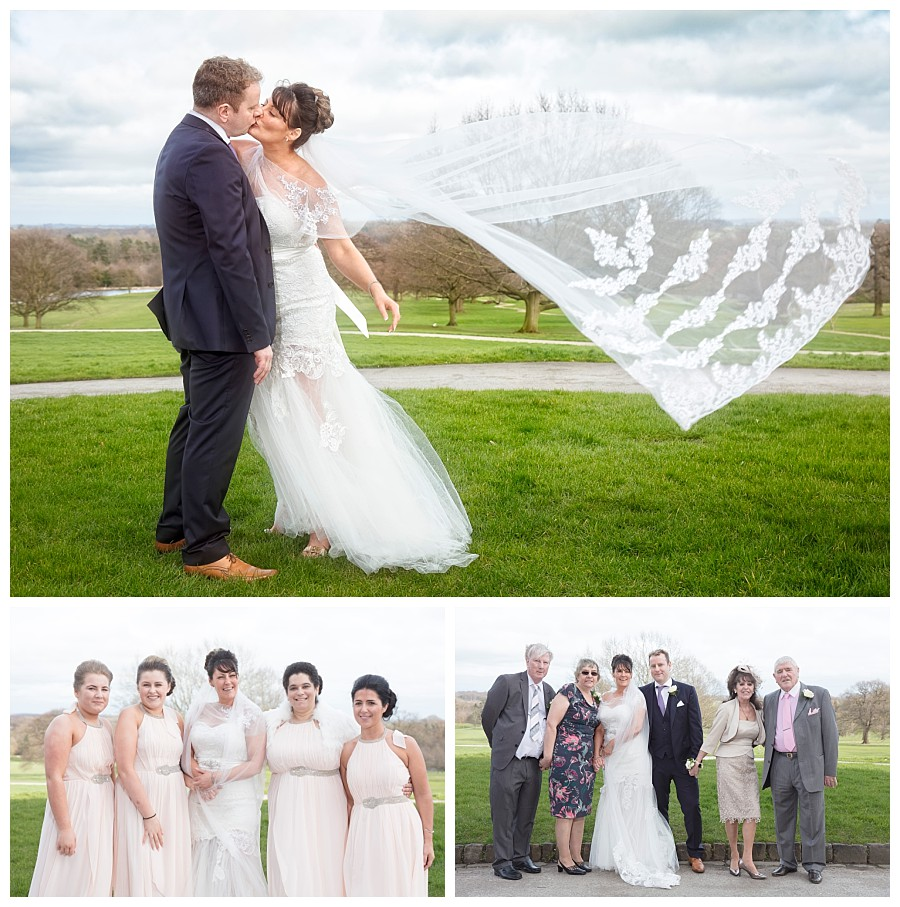 wedding photographers Yorkshire Harrogate, bride & groom photos rudding park hotel