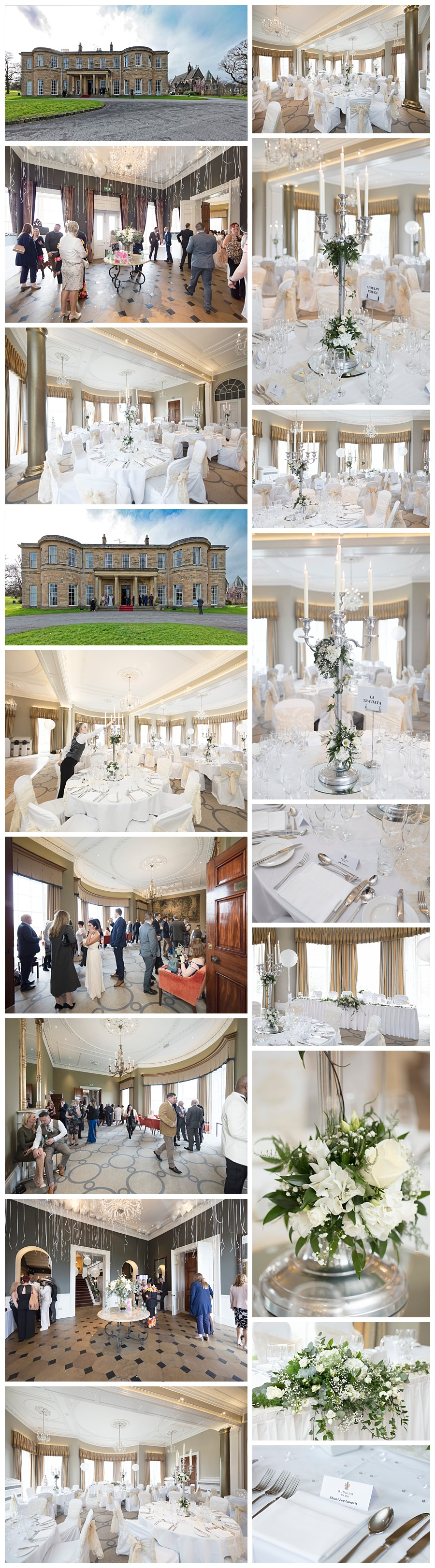 photos of rudding park hotel harrogate, reception photos rudding park hotel, rudding park wedding venue Harrogate