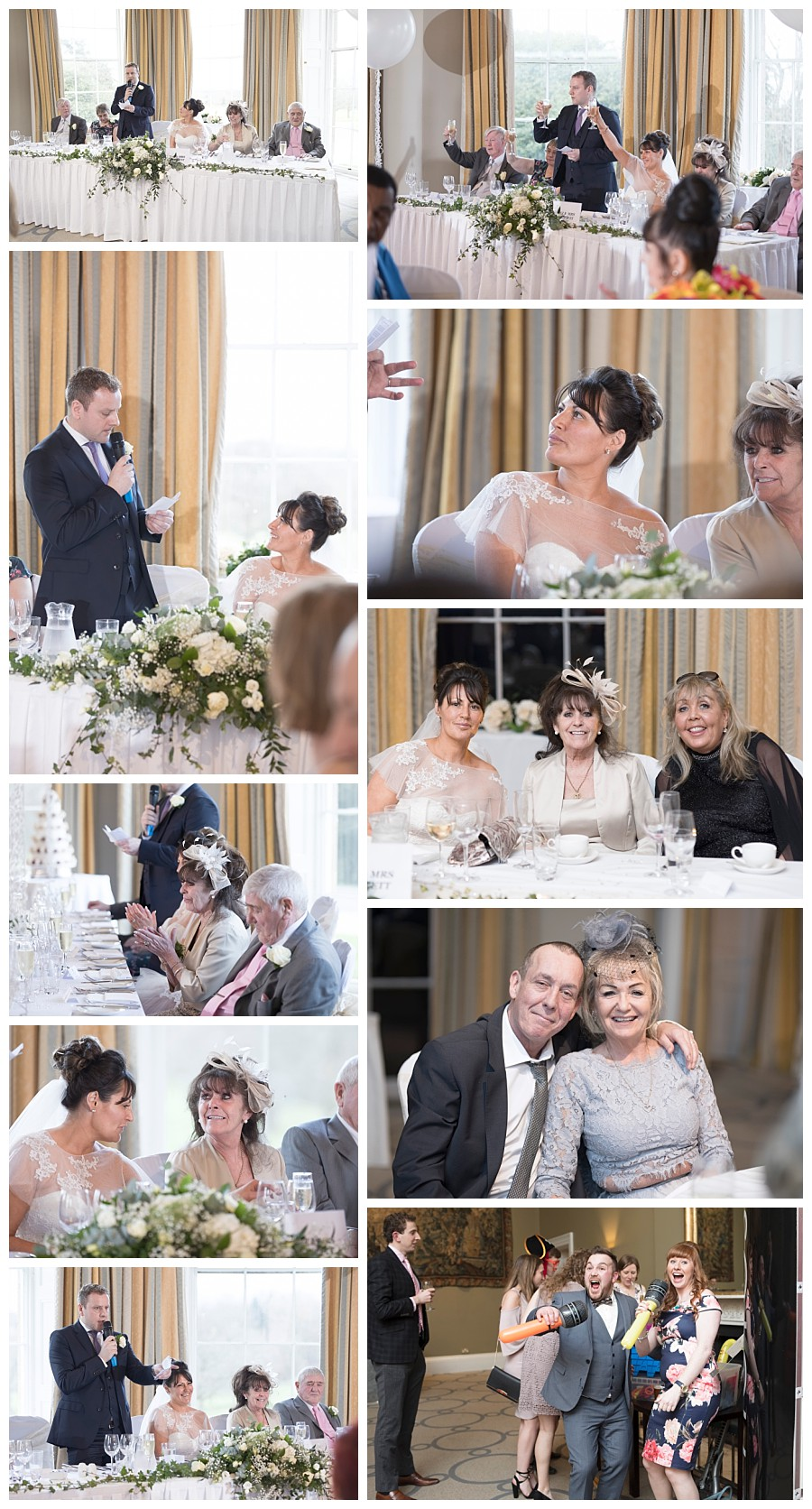 wedding reception photos rudding park hotel, speeches photos rudding park weddings, photographer Harrogate