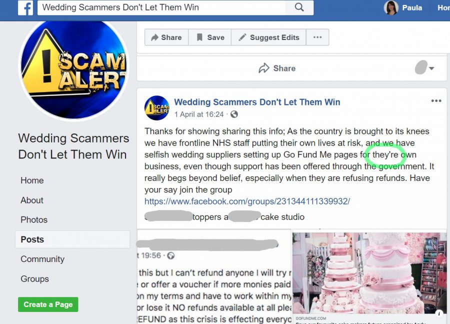 Carlo Saleminetti wedding photographer creates false reviews on other wedding traders