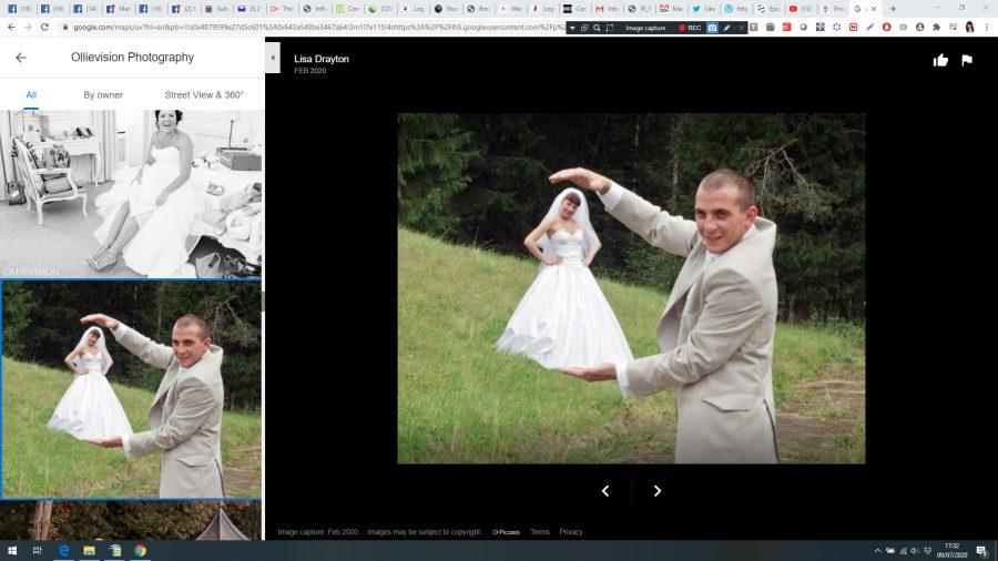 Carlo Saleminetti of squashed apple adding fake photos to his competitors portfolio